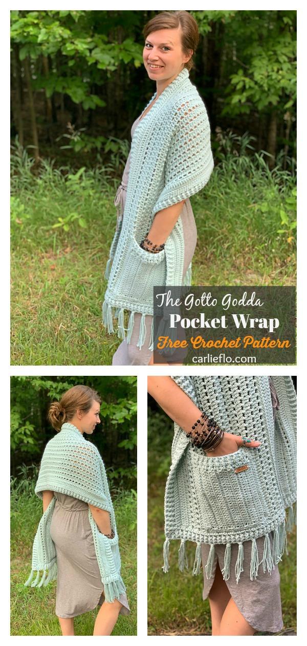 The Gotto Godda Pocket Wrap Free Crochet Pattern