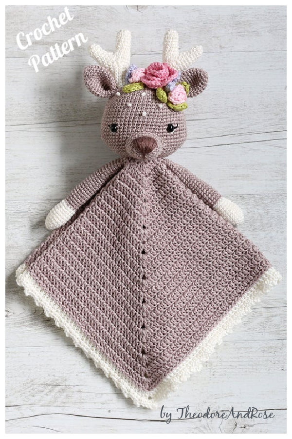 The Little Fawn Lovey Security Blanket Crochet Pattern