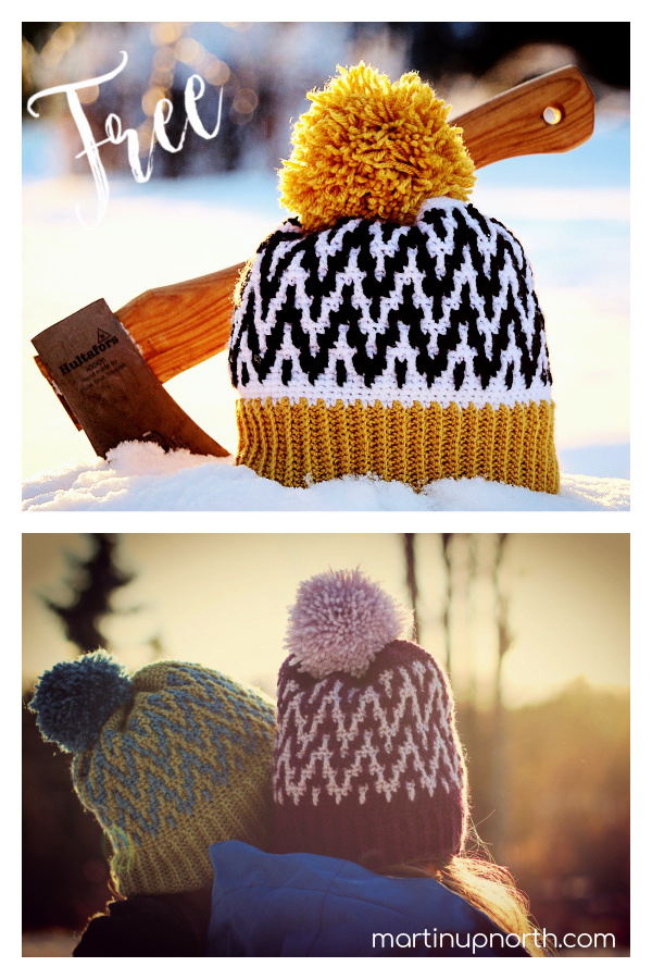 Up Early - Up North Hat Free Crochet Pattern