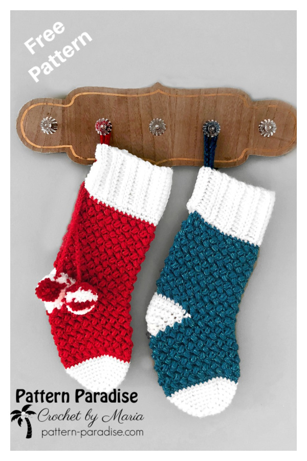 Yuletide Christmas Stocking Free Crochet Pattern