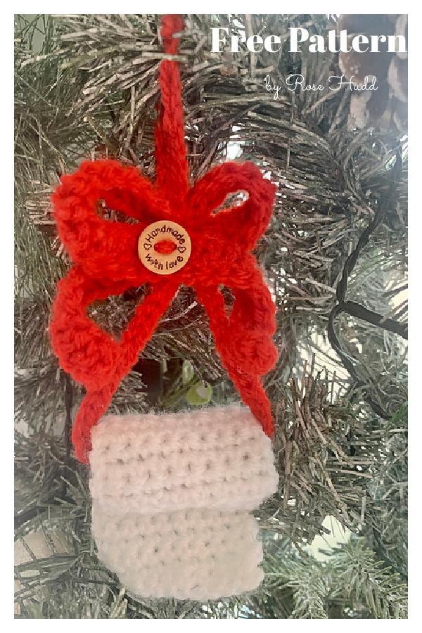 2020 Christmas Toilet Paper Ornament Free Crochet Pattern