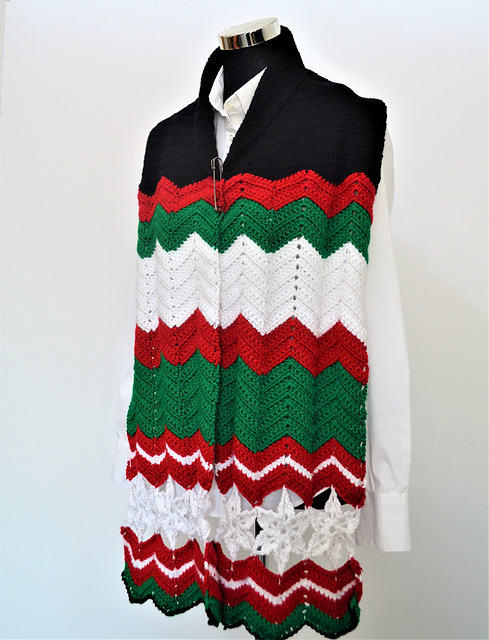 All About Christmas Scarf Free Crochet Pattern