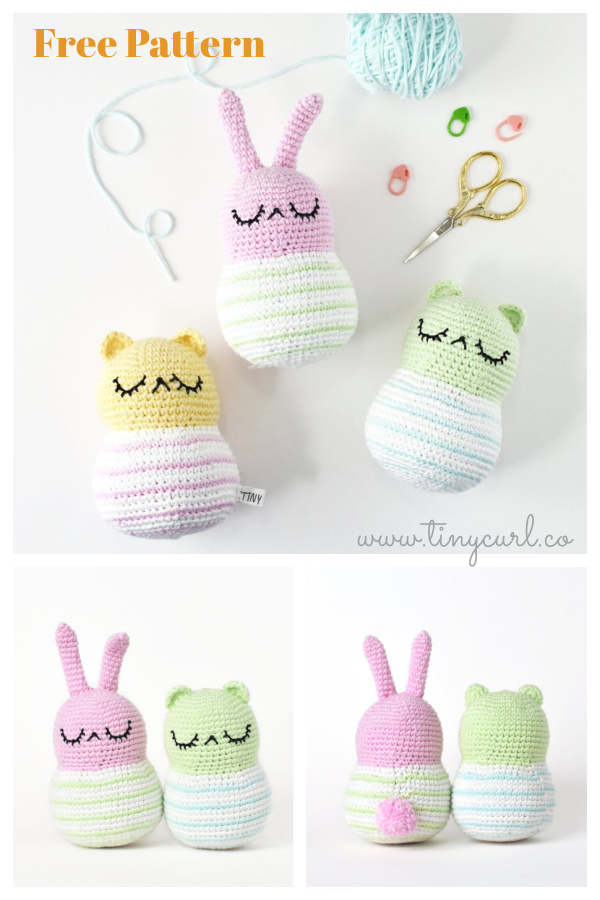 Amigurumi Spring Bunny and Bear Free Crochet Pattern