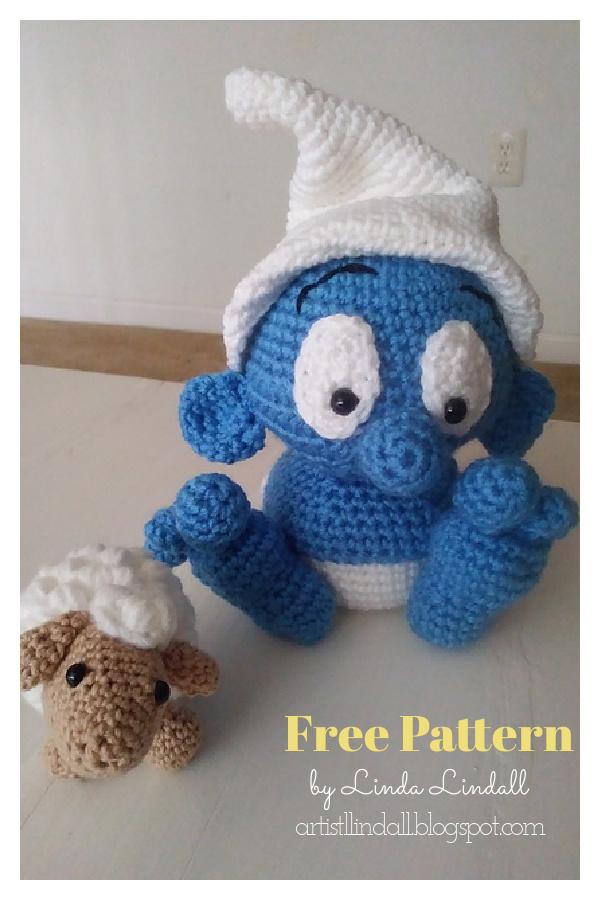 Baby Smurf Free Crochet Pattern