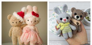 Bear and Bunny Buddies Free Crochet Patterns