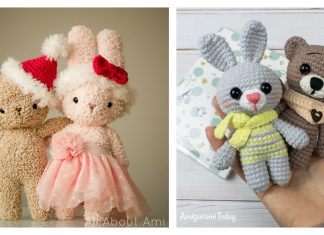 Bear and Bunny Buddies Free Crochet Patterns