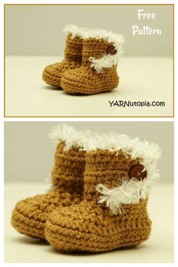 Booties with the Fur Free Crochet Pattern and Video Tutorial