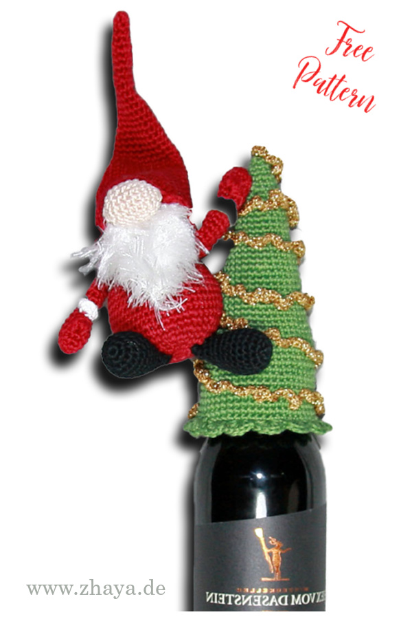 Bottle Gnome Free Crochet Pattern