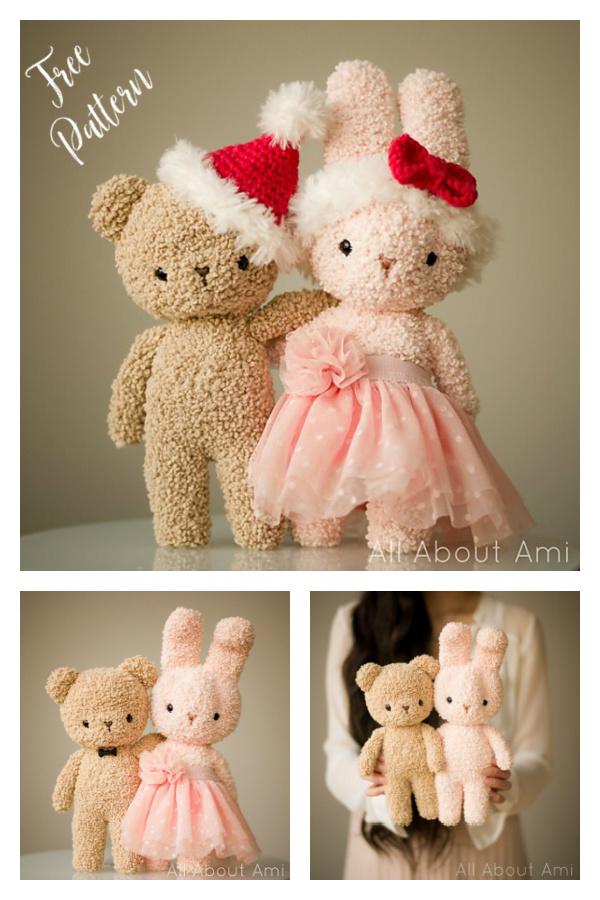 Boucle Bear and Bunny Free Crochet Pattern