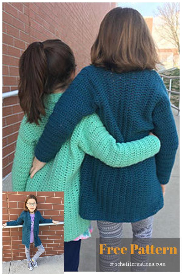 Cameo Cardigan Free Crochet Pattern