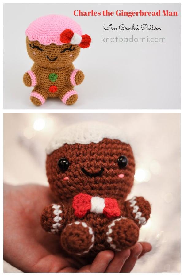 Charles the Gingerbread Man Free Crochet Pattern