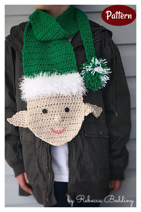 Cheeky Elf Scarf Crochet Pattern