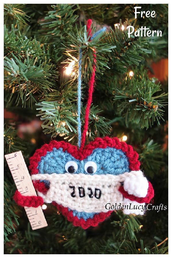 Christmas 2020 Ornament Free Crochet Pattern