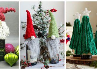Christmas Bottle Topper Free Crochet Patterns