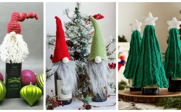 Christmas Bottle Topper Free Crochet Patterns