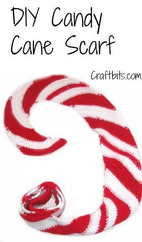 Christmas Candy Cane Scarf Free Crochet Pattern