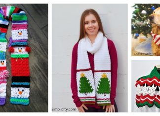 Christmas Scarf Crochet Patterns