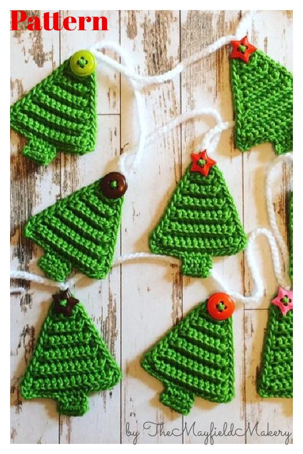 Christmas Tree Bunting Crochet Pattern