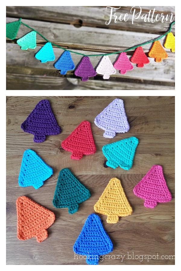 Christmas Tree Bunting Free Crochet Pattern
