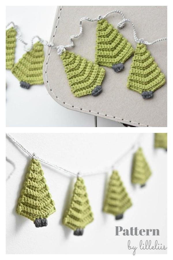 Christmas Tree Garland Crochet Pattern