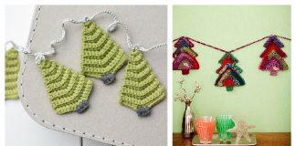 Christmas Tree Garland Crochet Patterns