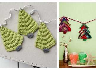 Christmas Tree Garland Crochet Patterns