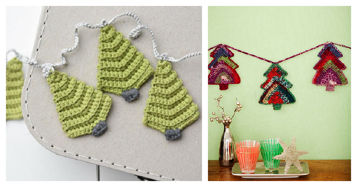 10 Christmas Tree Garland Crochet Patterns Free And Paid