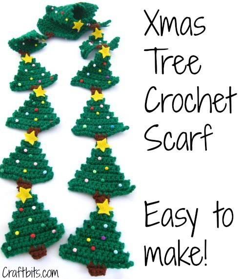 Christmas Tree Scarf Free Crochet Pattern