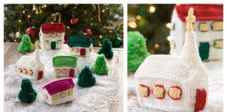 Christmas Village Free Crochet Pattern