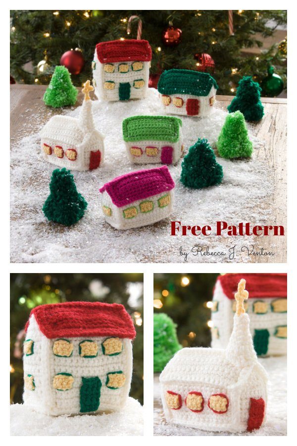 Christmas Village Free Crochet Pattern