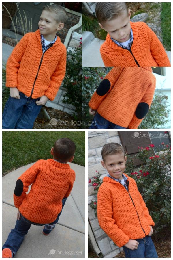 Cozy Kids Cardigan Free Crochet Pattern