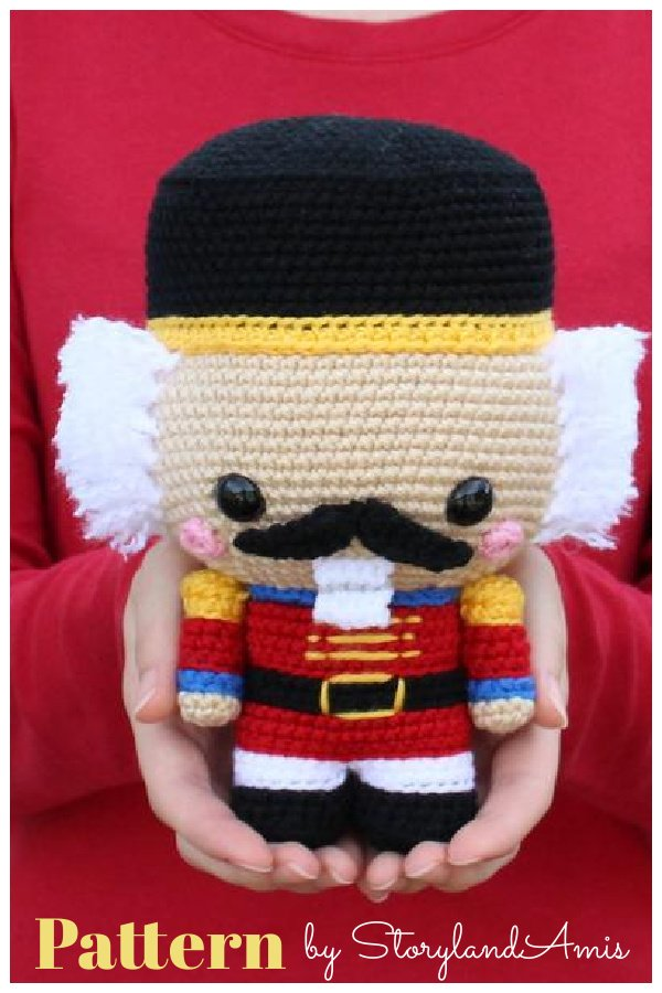 Cuddle-Sized Nutcracker Amigurumi Crochet Pattern