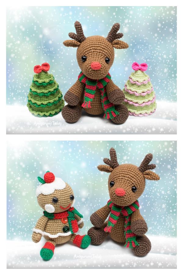 Deer Rudolph Free Crochet Pattern