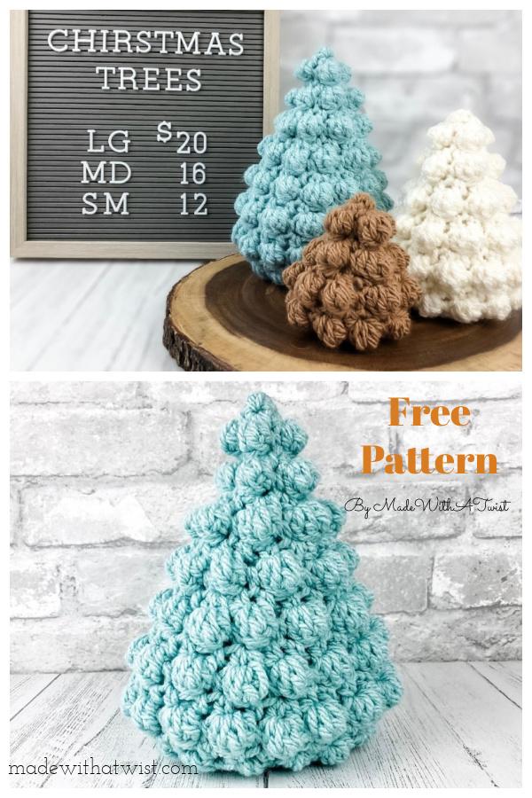 Easy Bobble Christmas Tree Free Crochet Pattern