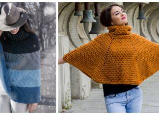 Easy Cowl Neck Poncho Crochet Patterns