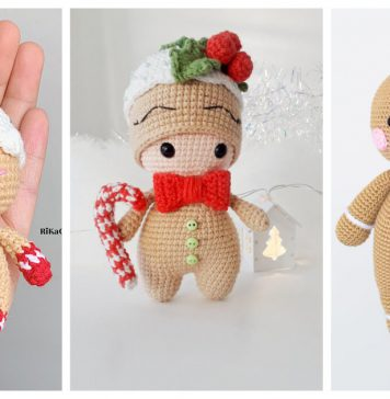 Gingerbread Man Amigurumi Crochet Patterns