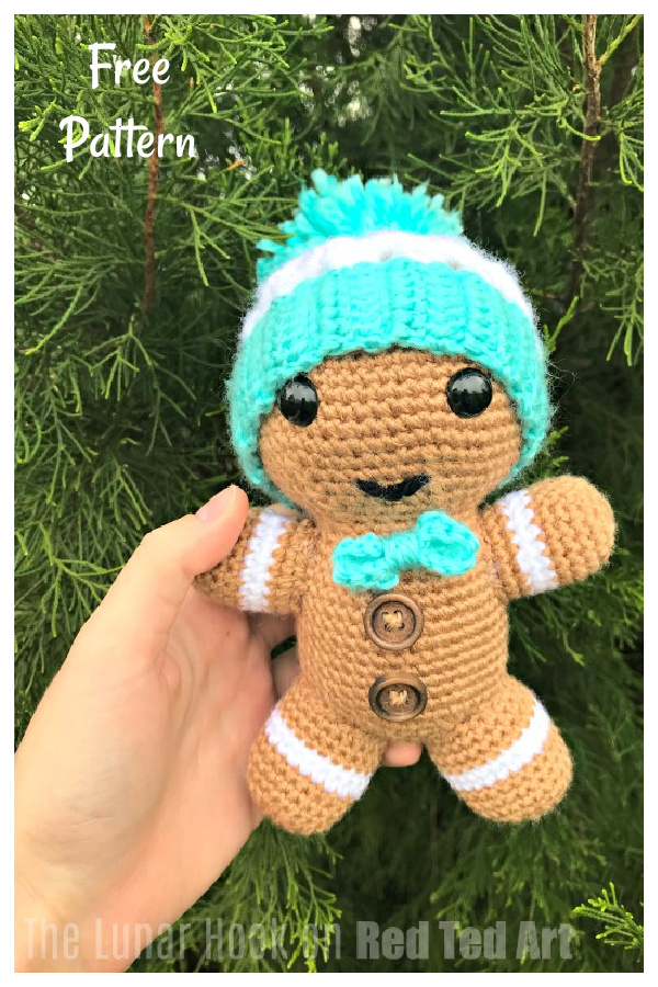 Gingerbread Man Amigurumi Free Crochet Pattern