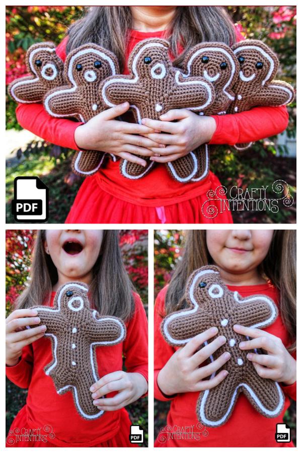 Gingerbread Men Amigurumi Crochet Pattern