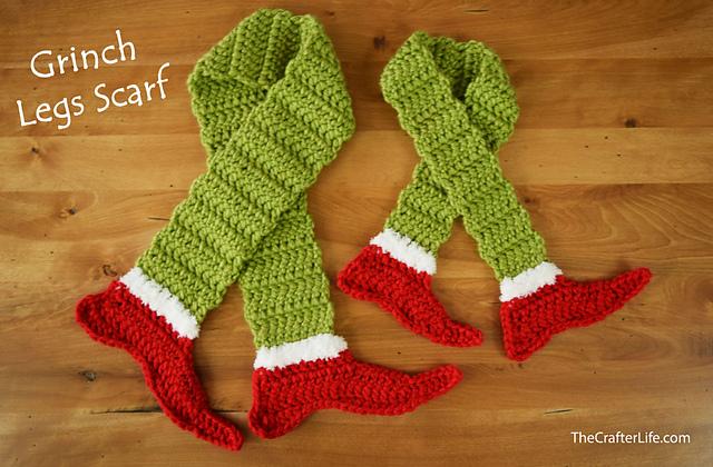 Grinch Legs Scarf Free Crochet Pattern
