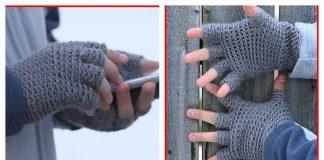 Half Finger Gloves Free Crochet Pattern