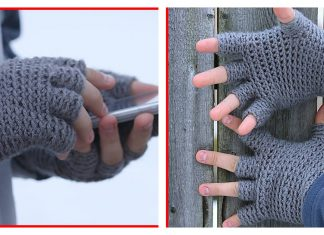 Half Finger Gloves Free Crochet Pattern