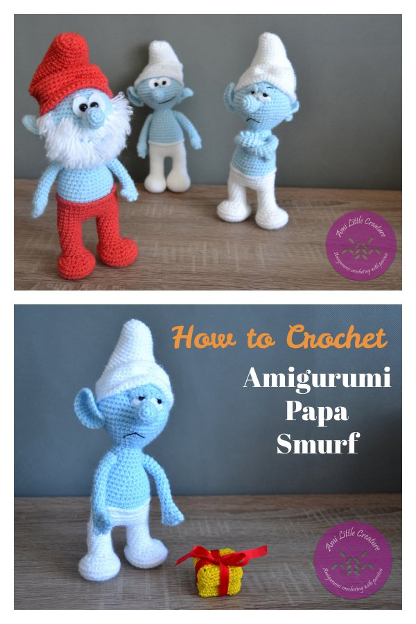 How to Crochet Amigurumi Papa Smurf