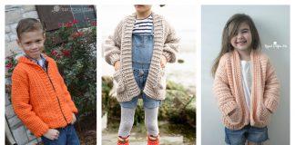 Kids Cardigan Free Crochet Patterns