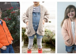 Kids Cardigan Free Crochet Patterns