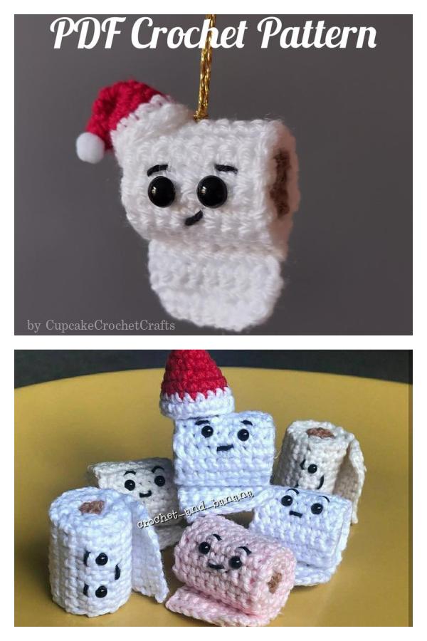 Larry Lockdown Toilet Roll Christmas Tree Ornament Crochet Pattern