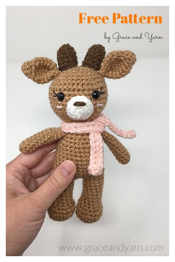 Mini Amigurumi Reindeer Free Crochet Pattern