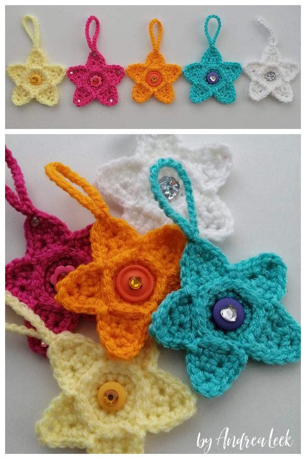 Mini Star Decoration Free Crochet Pattern