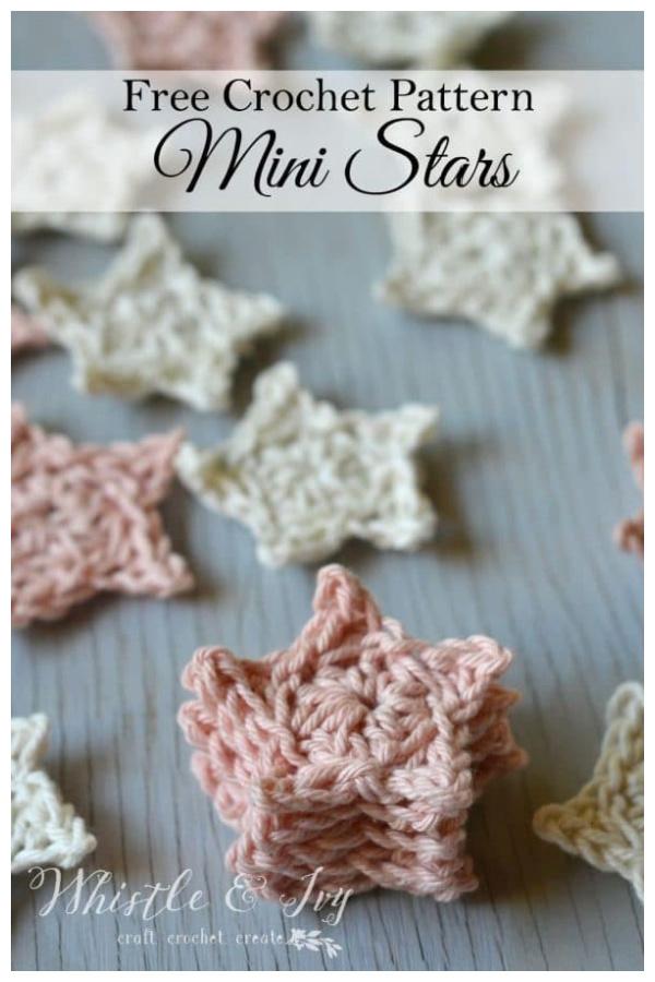 Mini Stars Free Crochet Pattern
