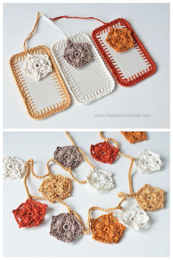 Mini Stars Garland Free Crochet Pattern