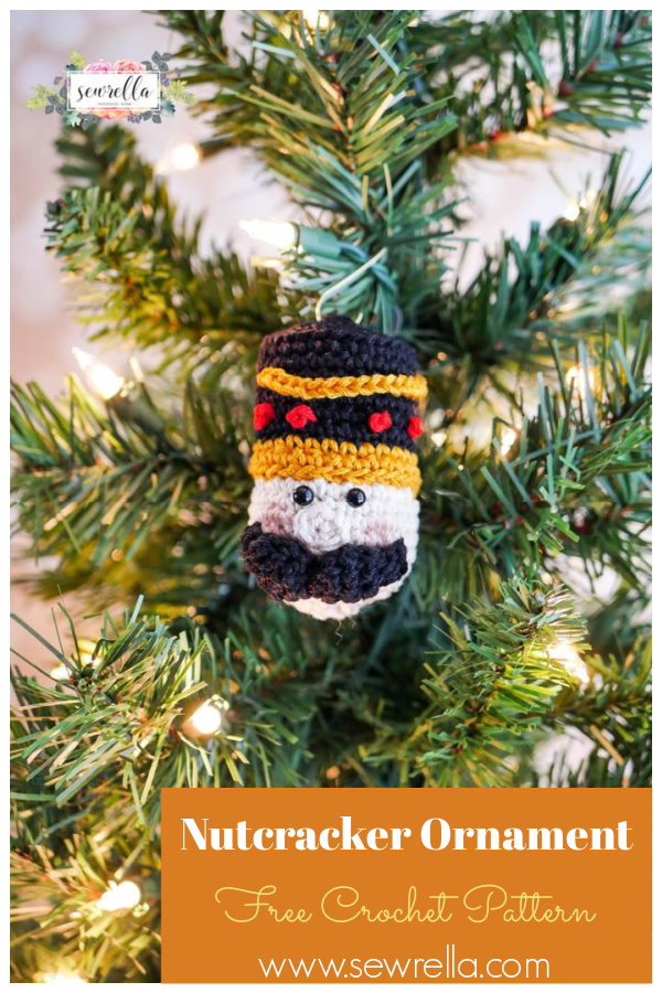 Nutcracker Christmas Ornament Crochet Pattern